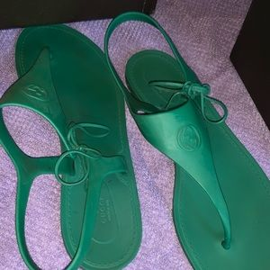 GUCCI indian jade sandals